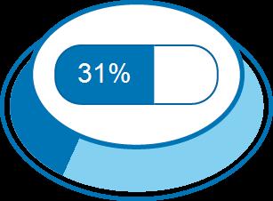 Zufriedenheitsgrad 31%