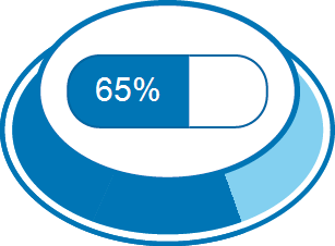 Zufriedenheitsgrad 65%